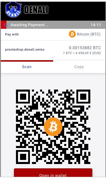 Accepter paiements avec bitcoin